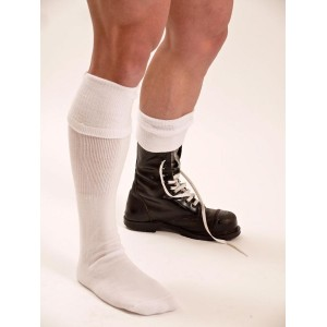 BOOT SOCKS WHITE